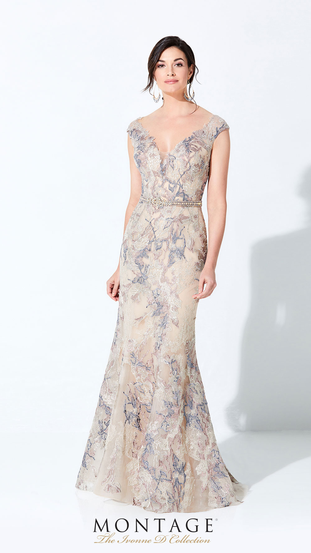 Mother of the bride dress with cap sleeve