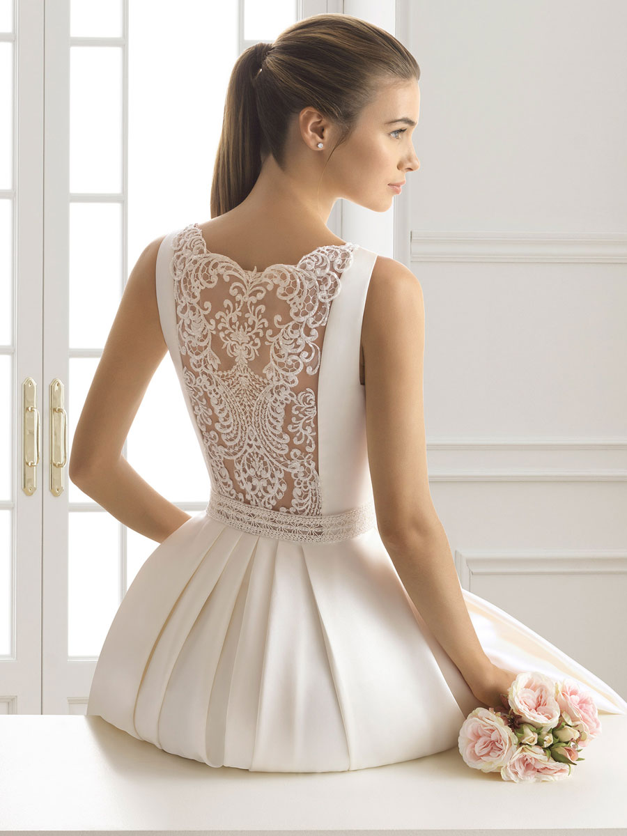 A stunning wedding gown with a fitted bodice