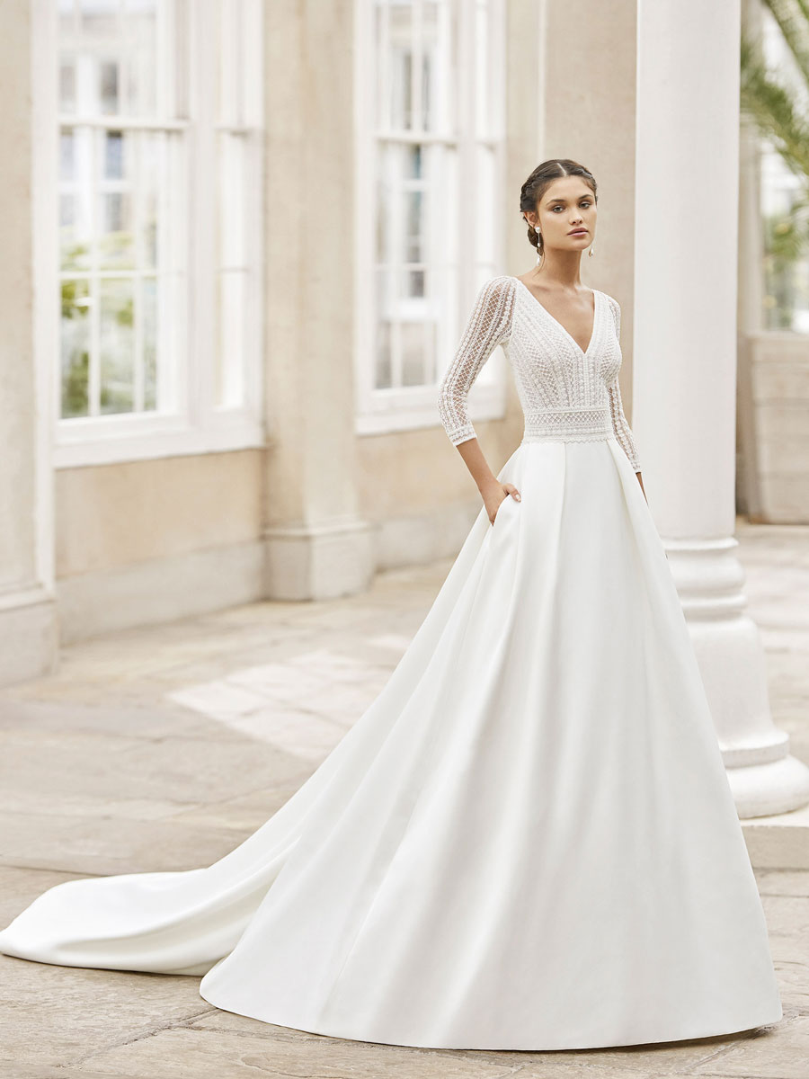Perfect for brides in search of a wedding gown with a princess silhouette